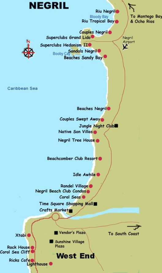 Negril Jamaica Map